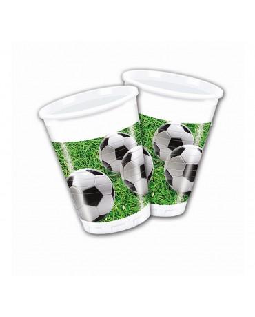 Plastové poháriky futbal 200ml 8ks