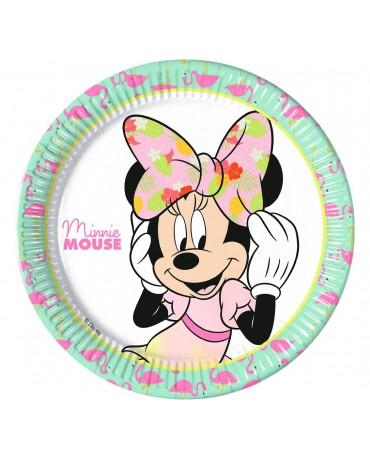 Tanieriky papierové Minnie 23cm 8ks