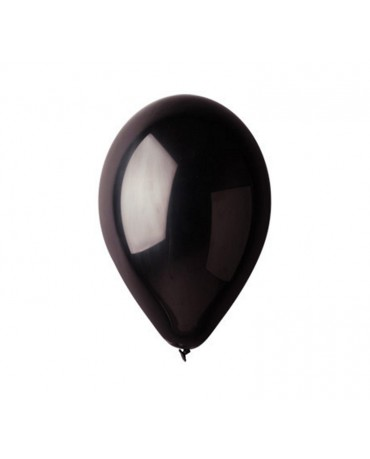 Pastelové balóny čierne 12'' 100ks