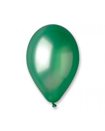 Metalické balóny zelené 12'' 100ks