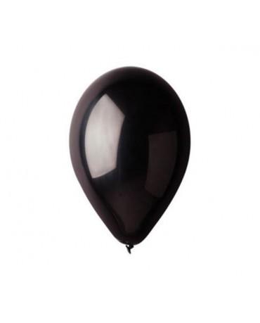 Metalické balóny čierne 12'' 100ks