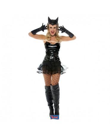 Čierny metalický kostým S/M