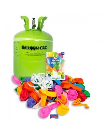 Hĺium 50 balónkové + 50 balónikov a stuha