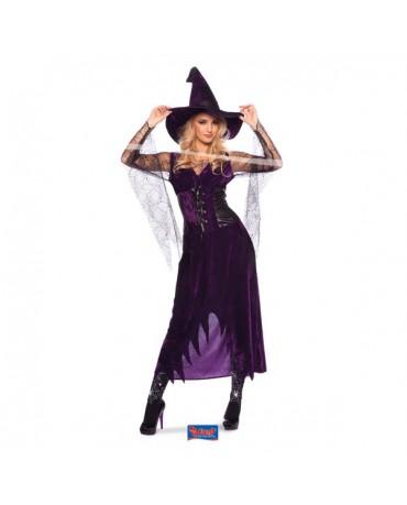 Kostým čarodejnica fialový S/M