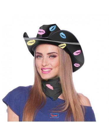 Kovbojský klobúk čierny - pusinky