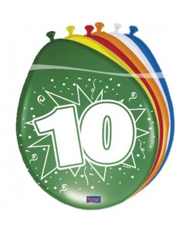 Latexové balóniky 10yo 30cm 12ks