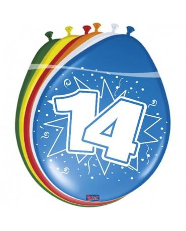 Latexové balóniky 14yo 30 cm 12ks