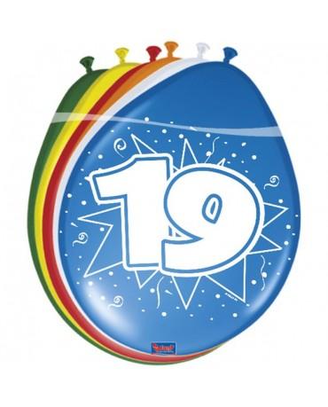 Latexové balóniky 19yo 30 cm 12ks