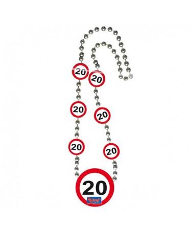 Náhrdelník 20 dopravná značka