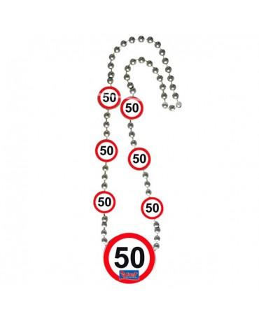 Náhrdelník 50 dopravná značka