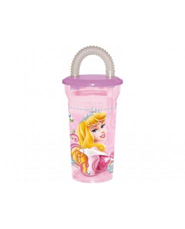 Plastový pohár so slamkou Princess 350 ml