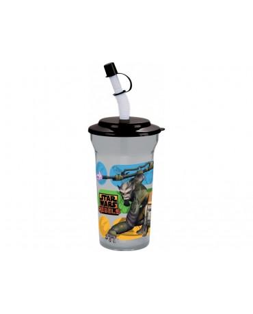 Plastový pohár so slamkou Star Wars Rebels 350 ml