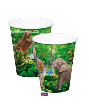 Poháriky Safari party 250 ml 8ks