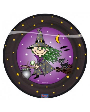 Tanieriky čarodejnica 23cm 8ks