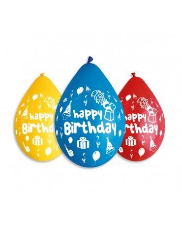 Latexové balóny ''Happy Birthday'' 12'' 5ks