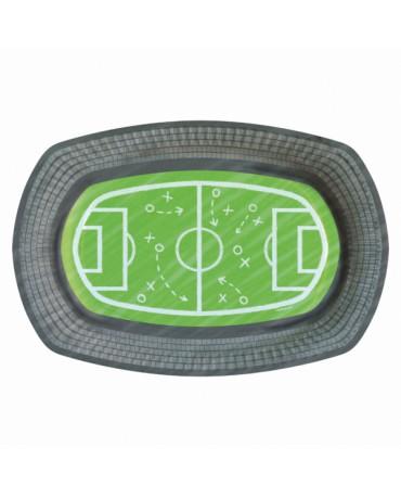 Tanieriky futbalové ihrisko 24x16cm 6ks