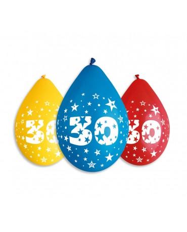 Pastelové balóny 30 visiace 12'' mix 10ks
