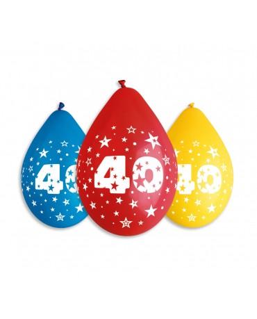 Patelové balóny číslo 40 visiace 12'' mix 10ks