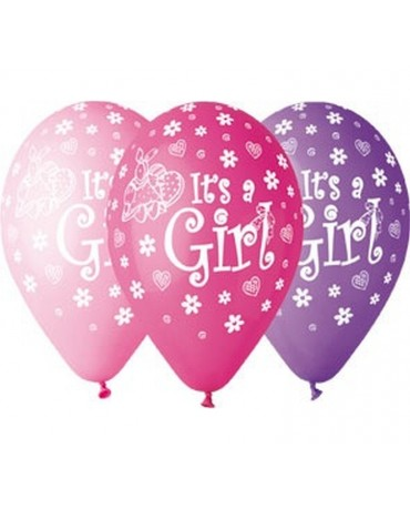 Latexové balóny ''It s a Girl'' 12'' 10ks