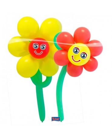 Balónový set kvetinky 2ks