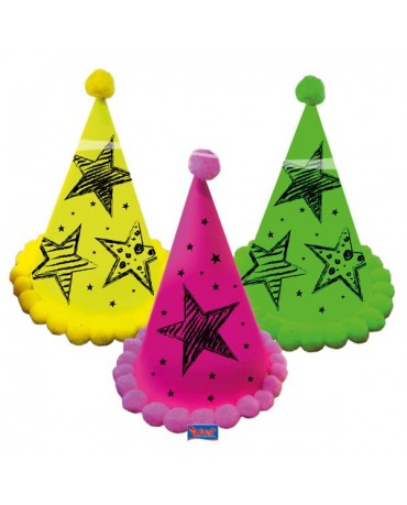 Klobúčiky neon party 3ks