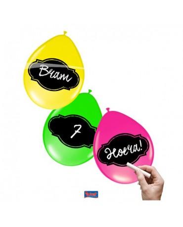 Balóniky neon písacie 6ks