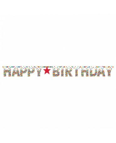 Banner Hap.Birthday - farebné bodky 3,35m
