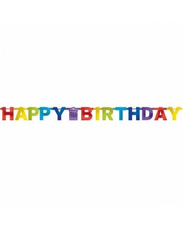 Banner Hap. Birthday - farebný 2,13m