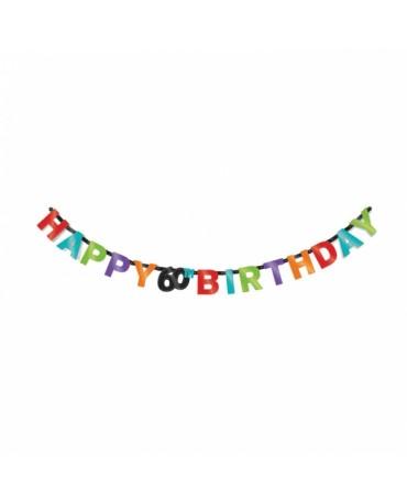 Banner Hap. Birthday 60- farebný 2,13m