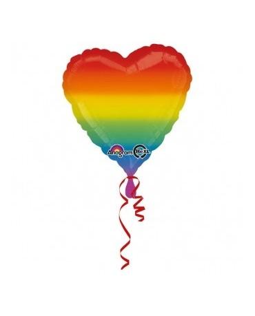 Fól. balón srdce- farebné