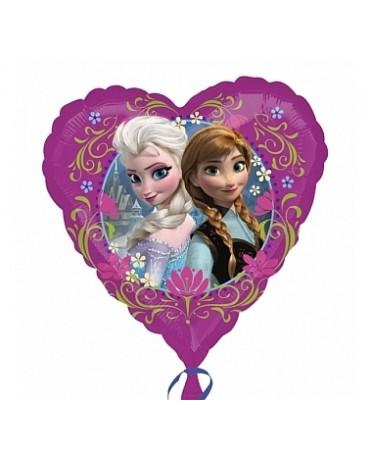 Fól. balón srdce- sestry Frozen