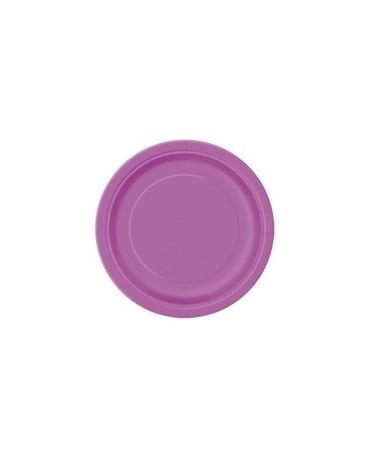 Tanieriky - fialové 18 cm 8ks