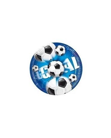 Tanieriky futbal - modré 20 cm - 10 ks