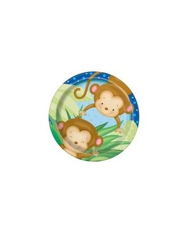 Tanieriky Opice 18 cm 8 ks