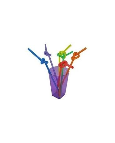 Tvarovateľné slamky-farebné 26cm 40ks