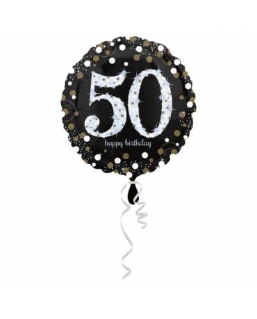 Fól. balón č.50 - zlatý 43cm