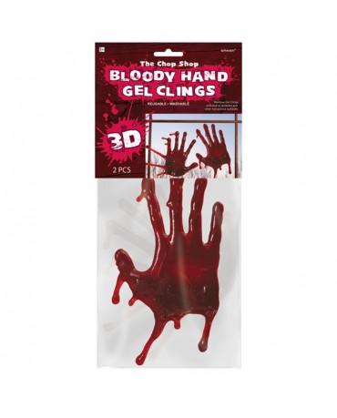 3D krvavé gélové ruky 25,4cm 2ks