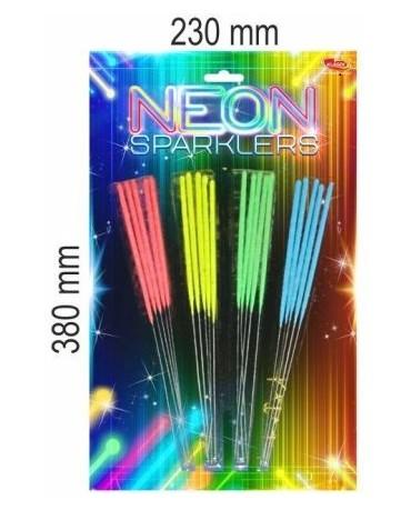 Prskavky neónové farebné 28cm 100ks/1ctn