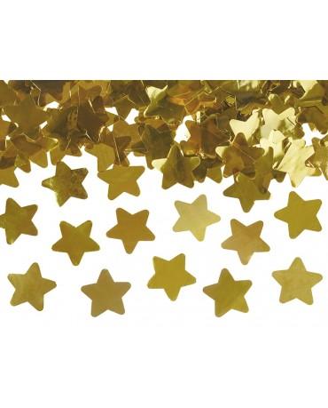 Konfety - zlaté hviezdy 80cm