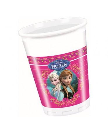 Poháre Frozen- ružové 200ml - 8 ks