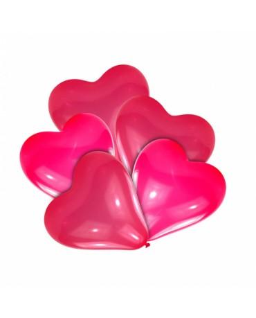 Latexové balóny srdce- červené 20cm 10ks