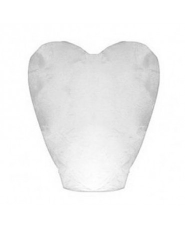 Lampión štastia biele srdce-kvalitnejší 1ks