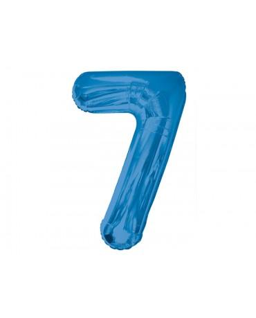 Fóliový balón číslo 7-modrý 86cm