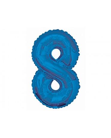 Fóliový balón číslo 8 -modrý 86cm