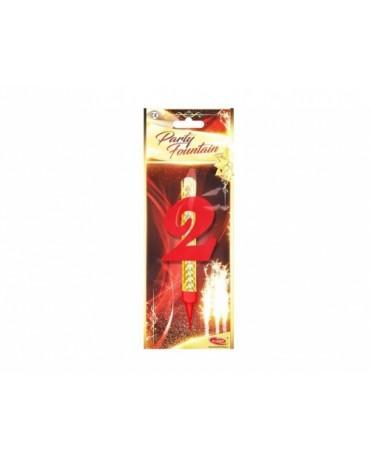 Tortová fontána 12cm - číslo 2  24ks/BAL