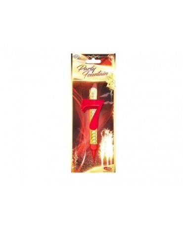 Tortová fontána 12cm - číslo 7 288ks/CTN