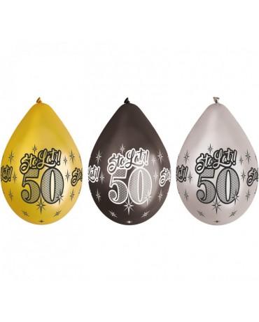 """Latexové balóny pastelové čierne 12"""" 10ks"""