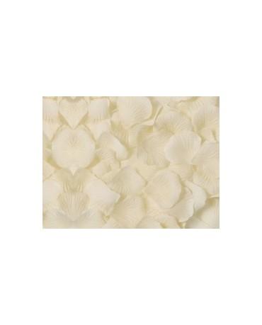 Dek. lupene ruží - krémové  100ks