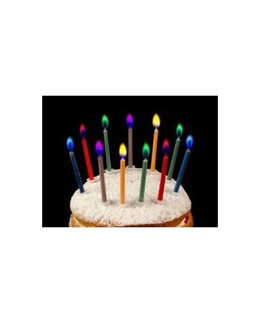 Sviečky-fareb-plamene 6 ks