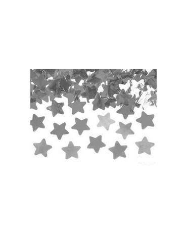 Konfety - strieb. hviezdy 80cm